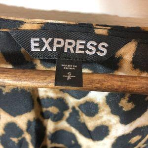 Express Dresses - Express leopard ruffle dress